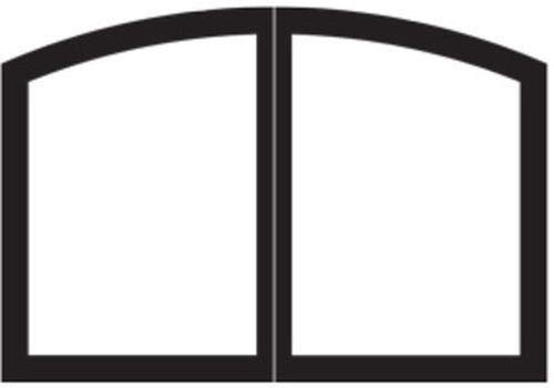 New Empire Comfort Systems Arch Door Set for Tahoe 36 Fireplaces - Matte Black