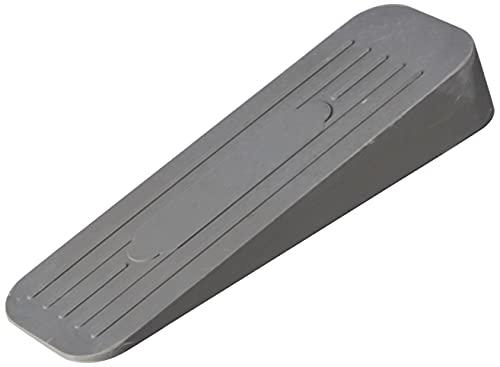 Merriway BH02509 Deluxe Heavy Duty Non-Slip Rubber Door Wedge Stopper, Grey
