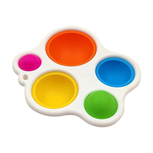 QIRU Fidget Dimple Toy,Simple Dimple Fidget Toy, Sensory Toys, Silicone Flipping Board Fidget Toys,Hand Grasping Toy,Stress Relief Hand Toys for Kids(1pcs)
