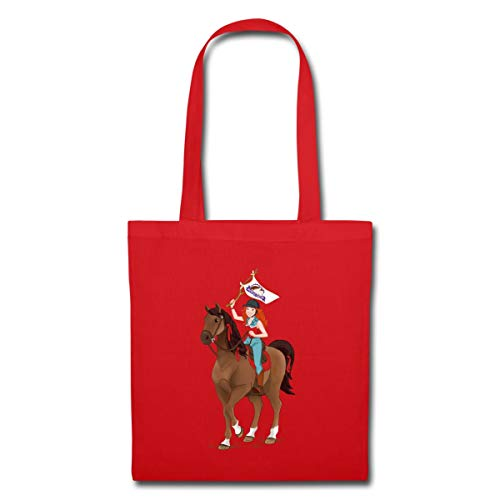 SCHLEICH Horse Club Hannah auf Pferd Cayenne Stoffbeutel, Rot