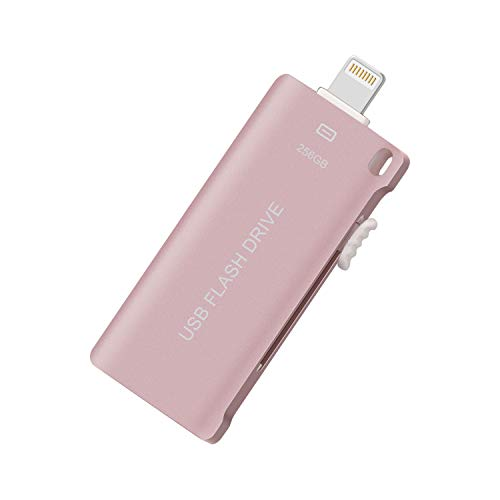 USB Flash Drive Thunb Drive for iPhone Photo Stick 256GB 3in1 Memory Stick for iPad Flash Drive Sunswan for iPhone iPad iOS Windows Mac USB C Android and PC (Pink256G-CT)