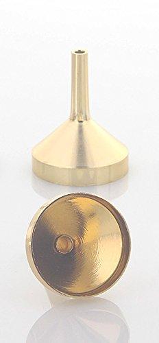 Mini Metall Parfümtrichter Kosmetex, kleiner Trichter 3 cm zum umfüllen, Gold