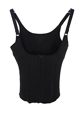 Jennifer Open Bust Body Slimming Perfect Waist Shapewear - Smooth Body Shaper (4XL, Black)