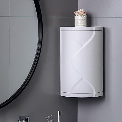 ACEACE Rotating Bathroom Organizer Corner Gabinete de Inodoro Estabio Free Punching Plastic Multifunción Estante de Ducha Multifunción Estantes de la Cocina (Color : Grey)