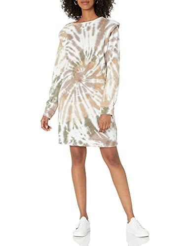 The Drop Women's Malia Padded Shoulder Fleece Mini Dress
