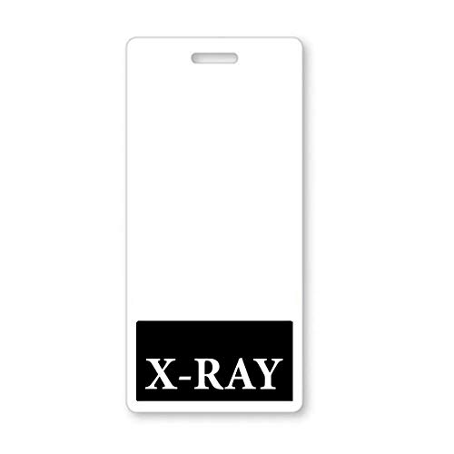 X-Ray Badge Buddy - Heavy Duty Vertical Badge Buddies for X Ray Technicians - Spill & Tear Proof Cards - 2 Sided USA Printed Quick Role Identifier ID Tag Backer by Specialist ID