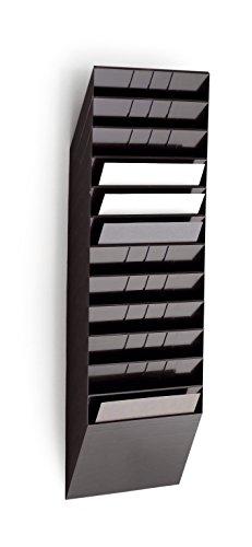 Durable 1709781060 Flexiboxx Prospektspenderset (12 A4 Querformat) schwarz