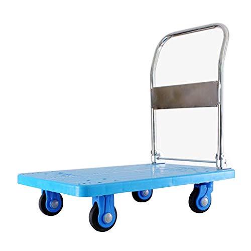 DBSCD Handwagen Sackkarre Faltbar Blau Kommerziellen Stahlrahmen PP Nylon Auto Bord, 102 X 62 cm, 3 Arten (Größe: 102 x 62 cm-C)