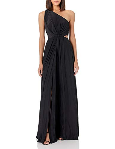 Ramy Brook Women's Linley One Shoulder Cut Out Dress, Black, 6 (Apparel)