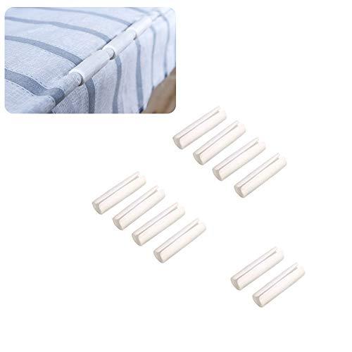 YINSONG Sujeta Sabanas Bajeras Clip para sábanas o sofás Cortina, blanco, 10 piezas
