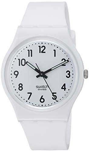 Swatch New Core Quartz Silicone Strap, White, 16 Casual Watch (Model: GW151O)