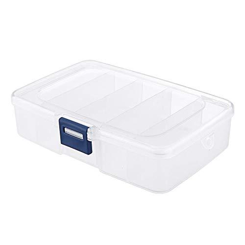 DIMENXONG Conjuntos y componentes electrónicos DIY 5PCS 5 Rejilla componentes electrónicos Caso de plástico Caja de Almacenamiento Proyecto Surtido Box Bead Organizador de la joyería