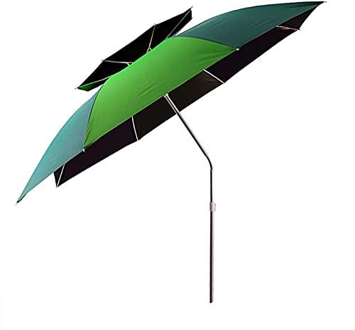Parasol de paraguas de playa plegable, parasol de rotación de 360 ° de 360 °, portátil, parasol ligero ajustable, protección solar engrosada, parasol a prueba de lluvias, paraguas de pesca, anti-u