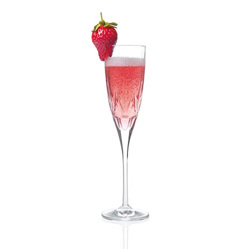 RCR 26232020006 Chic Sektgläser aus Luxion-Kristall, 150 ml, 6er-Set Champagne glasses, Glas