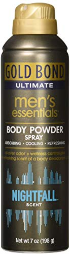 Gold Bond Men's Ultimate Essential Body Powder Spray, Nightfall Scent 7 oz