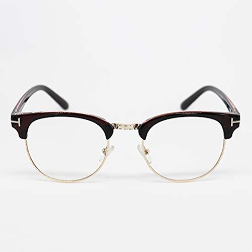 Sista & Bro Eyewear - Cusack Choco Doré, occhiali da riposo anti luce blu, unisex, con lenti antiriflesso 100% UV, speciali per schermo di PC o videogiochi