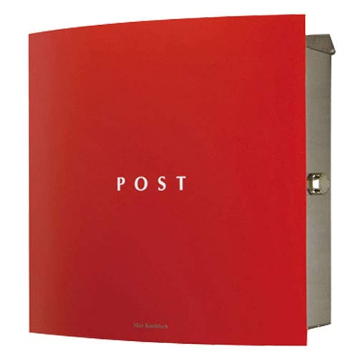 解決する右圧力マックスノブロック ボン 右ロック レッド AAE11I 郵便ポスト 壁付けポスト