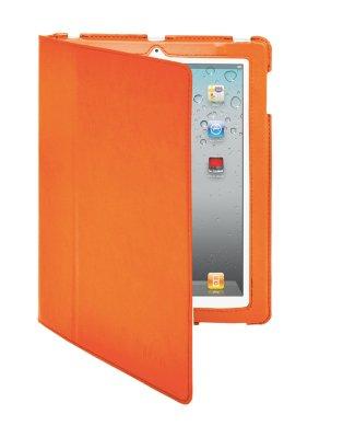 iHome by Lifeworks Technology Slim Fit Folio Case for iPad 2/3/4, Neon Orange (IH-IM1102NJ)