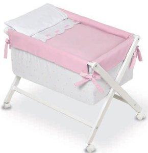 Bimbi Class – Bébé, 68 x 90 x 71 cm, couleur blanc et rose