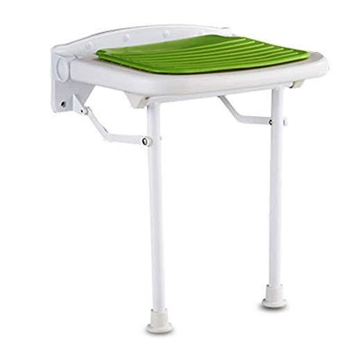Ireanj, sedia da bagno, sgabelli da bagno, sgabelli da doccia, sedili pieghevoli da doccia, montaggio a parete, sedie da doccia e panchine, sgabello da bagno con cuscino di ricambio scarpa verde