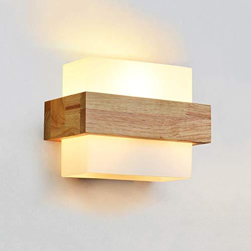 Meidn Art minimalista estilo japonés aplique de pared de madera aplique de pared for el hogar aplique de vidrio de pared LED lámpara de noche escalera pasarela luz de fondo
