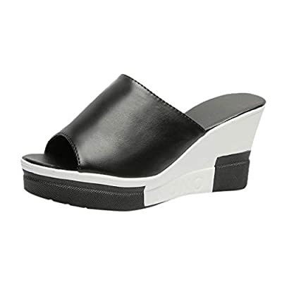 Midress Thick Bottom Slippers Fashion Casual Women's Sandals Female Slip-On Sandals Wedges Shoes