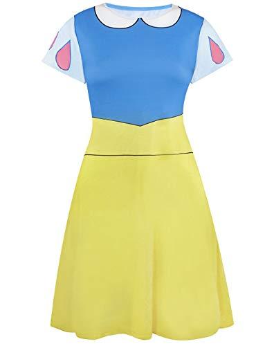 Disfraz de Princesa de Disney para Mujer Blancanieves Cosplay Vestido Elegante