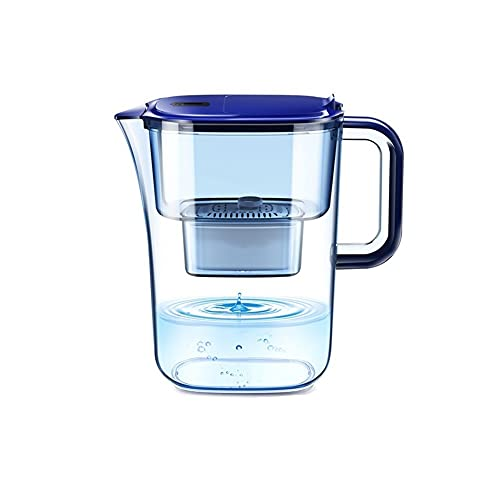 Sdesign Fridge Water Filter Jug for Reduction of Microplastics, Chlorine, Limescale and Impurities, White, 1.5 L (Size : 4 filter)