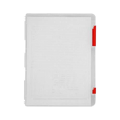 Yue668 - Carpeta portátil de plástico para archivar, caja de almacenamiento transparente A4 de plástico transparente, plástico, rojo, 30.7x23.2CM