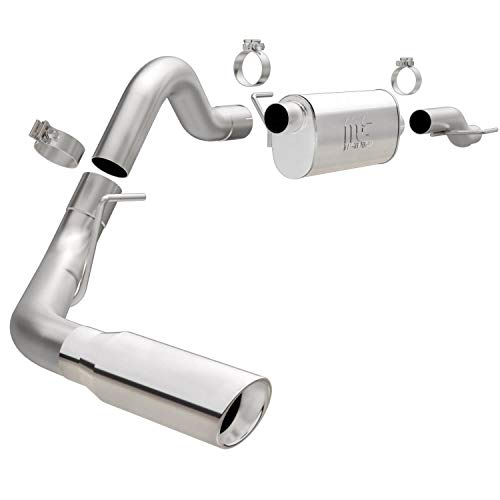 MagnaFlow Cat-Back Performance Exhaust System 19079 - Street Series, Stainless Steel 3in Main Piping, Single Passenger Side Rear Exit, Polished Finish 4in Exhaust Tip - Truck Performance Exhaust Kit