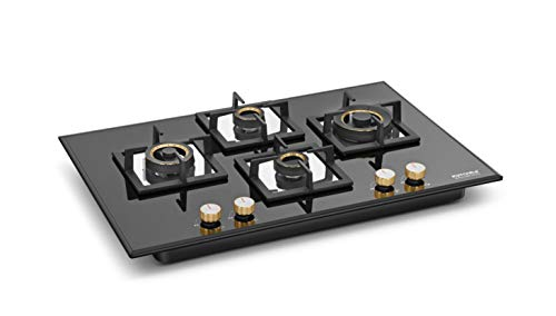 KUTCHINA MARICA 4BST 80 DLX 8 mm Tempered Glass Top Hob 4 Burner with Pulse Ignition