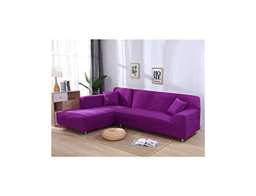 Vio-let Elastischer Sofabezug für L-förmiges Ecksofa/Sofahusse/Sofahusse, elastisch, für Wohnzimmer, Textil, Candy Violett, 4-Seat 235-300cm