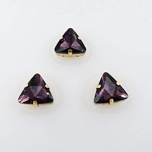 18mm 20 unids/pack garra dorada en forma de triángulo coser cuentas de diamantes de imitación de cristal prendas de vestir ropa zapatos decoración diy