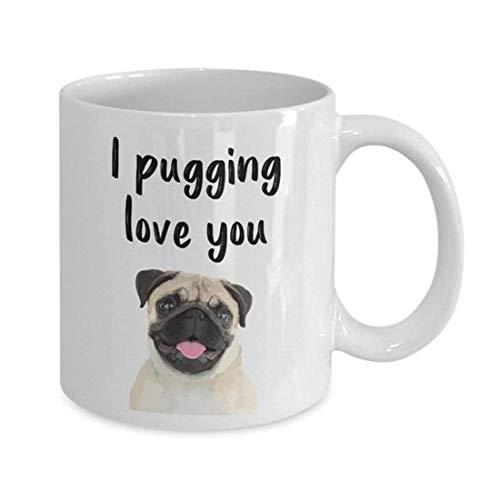 LECE - I Pugging Love You Mok - Knuffel Koffiemok - Knuffel Liefhebber Geschenken - Knuffels - Kerstmis Verjaardag Geschenken