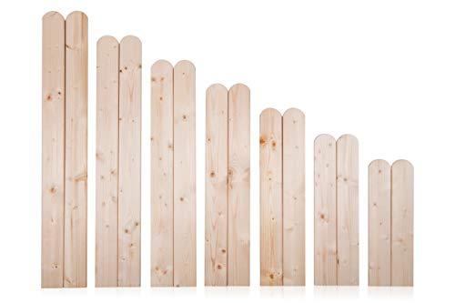 AZZAP Zaunlatten 150cm 15 Stück Holzzaun Holz Zaun Brett Zaunbrett Gartenzaun
