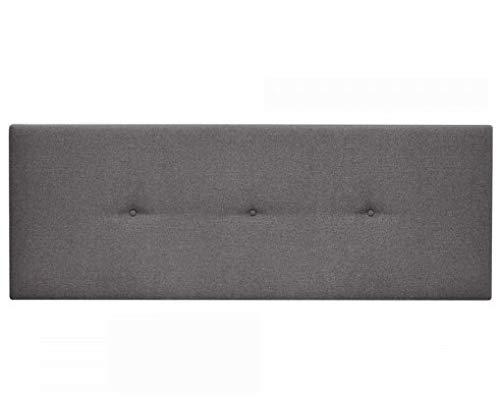 SERMAHOME Cabecero de Camas 135,150 cm. Cabeceros Tapizado Antimanchas Color Gris