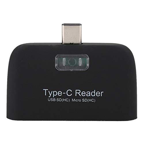 Shipenophy Adaptador de concentrador Ampliamente Utilizado Lector de Tarjetas de Tipo C a USB 3.0 Generoso y Duradero Buena compatibilidad Portátil para tabletas para teléfonos