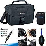Canon EOS 100ES Bag (Black) for Canon EOS 7D, 5D, 6D, 60D, 60Da, 70D, EOS Rebel SL1, T1i, T2i, T3, T3i, T4i, T5,T5i,T6, T6I, T7I, XSi, XT, XTi, ETC. Digital SLR Cameras - Deal-Expo Bundle