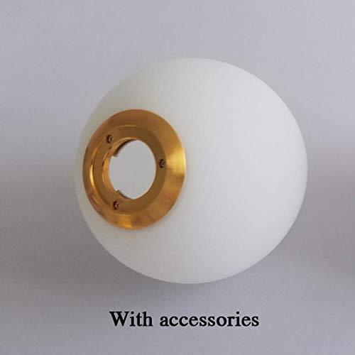 FICI Eenvoudige Ronde bal glazen hanglamp explosieveilige niet-vervormbare glazen bol lampenkap decoratie, Dia20cm Glazen bol