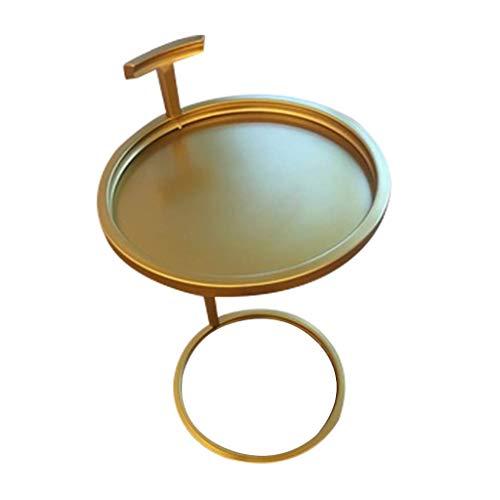 NO LOGO Couchtisch Side Nachttisch, Gold, Eisen Kunst Ecke EIN Paar Wohnzimmer Round Sofa Beistelltisch Metall Einfaches Moderne BBGSFDC