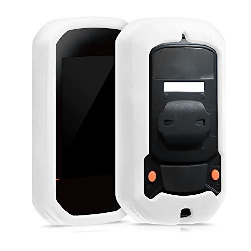 kwmobile Hülle kompatibel mit Bryton Rider 420/320 - Silikon GPS Fahrrad Hülle Schutzhülle - in Weiß