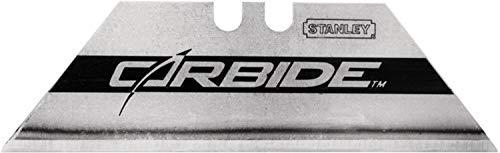 Stanley FatMax Carbide Trapezklingen (0,6 mm Klingenstärke, 62 mm Klingenlänge, 19 mm Klingenbreite, 10 Stück) 2-11-800