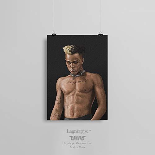 AMtxkj Tentacion Hiphop Rapper 50x70cm Frameless,Cuadros en Lienzo Pinturas murales Paisaje Abstracto Decoración Impresiones