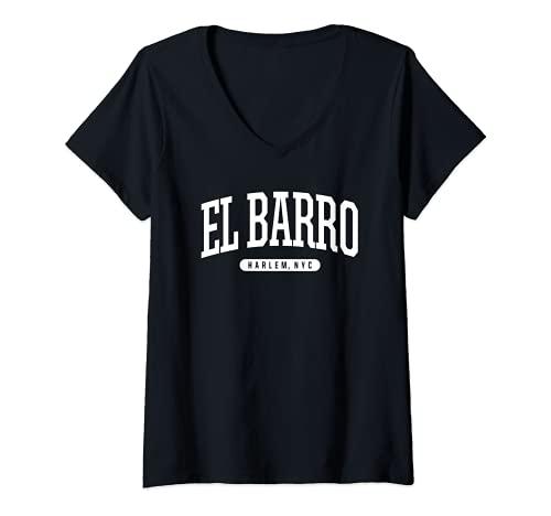 Mujer Ciudad de Nueva York El Barro Harlem Nueva York Camiseta Cuello V