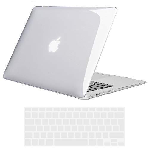 TECOOL Funda MacBook Air 13 Pulgadas (Versión: 2010-2017, Modelo: A1466 / A1369), Delgado Cubierta Plástico Dura Case Carcasa con Tapa del Teclado para MacBook Air 13.3 Pulgada - Transparente