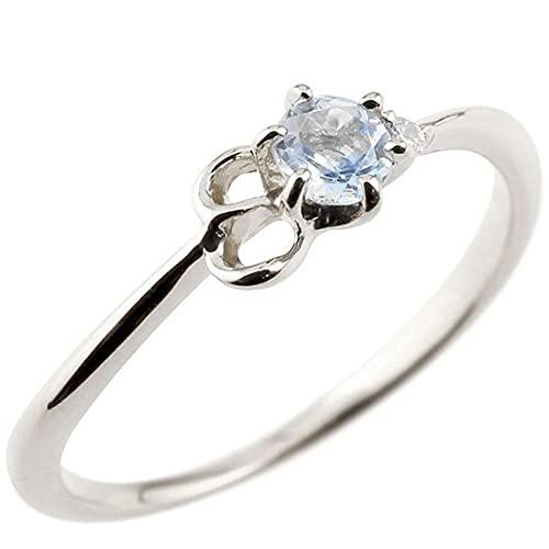 [アトラス]Atrus 指輪 レディース シルバー ムーンストーン ダイヤモンド イニシャル ネーム E ピンキーリング 華奢リング アルファベット 6月誕生石 人気 21号