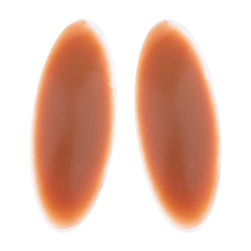 non-brand Sharplace Silicone Leg Onlays Coussinets De Mollet en Silicone pour Jambes Crooked Thin O - Café, 180