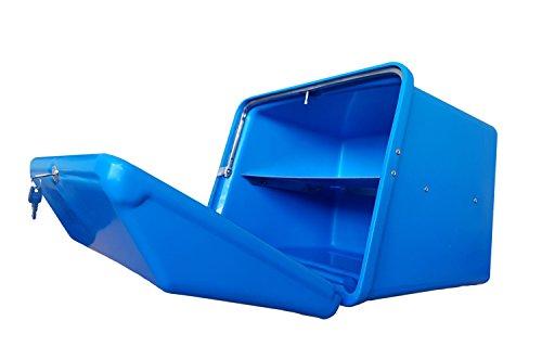 Portaequipajes Moto baúl Reparto Azul/Azul con Bandeja y Reflectantes homologados, Cierre Cerradura