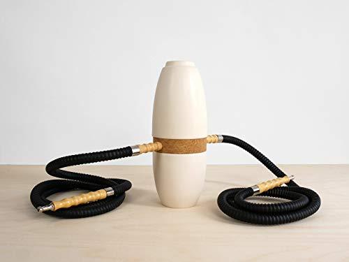 Keramik Hookah Doppelschlauch - bowl kamin-kopf amy sheesha schwarz jahrestag bong 2 shiaha smokebox porselein shsiha shicha keramiek klein-e silikon-schlauch glas-bong porzellan wasserpfeife-n