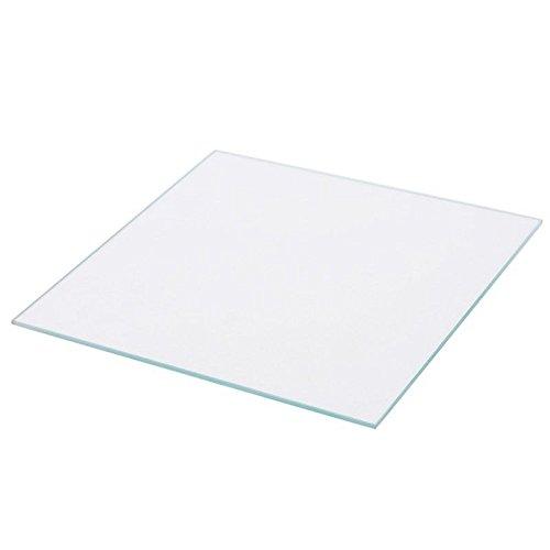 Square 3D Printer Borosilicate Glass Plate 120mm x 120mm x 3mm for Monoprice Select Mini 3D Printer V2 Boro Glass Bed (120x120x3mm Square)